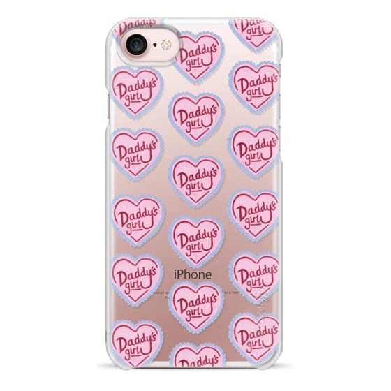 iPhone 7 Cases - Daddy's Girl Heart Pink Cute Spoilt