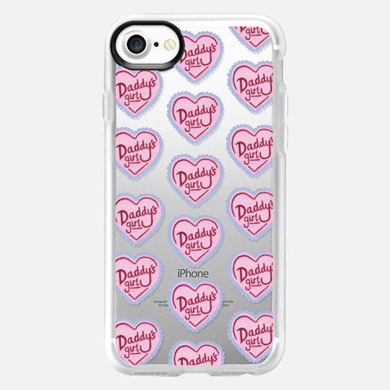 Daddy's Girl Heart Pink Cute Spoilt -