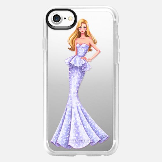 Mermaid Dress, Princess, girl, Transparent - Classic Grip Case