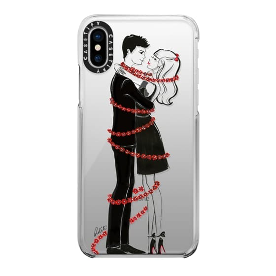 iPhone X Cases - Couple in Love, Holiday Transparent