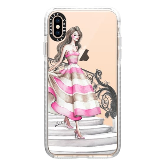 iPhone XS Max Cases - Pink and Fabulous Transparent