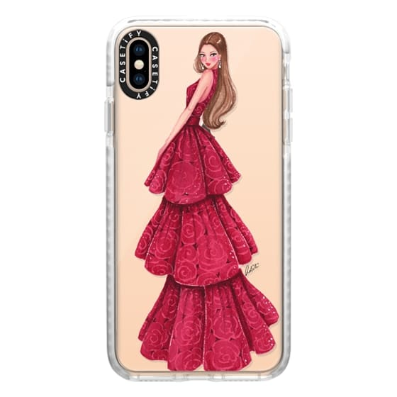 iPhone XS Max Cases - Red Ruby Glamour Transparent