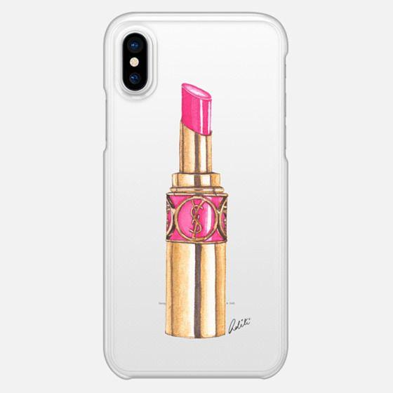 Pink Lipstick Transparent - Snap Case