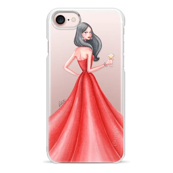 iPhone 7 Cases - Glamour Girl Red Transparent