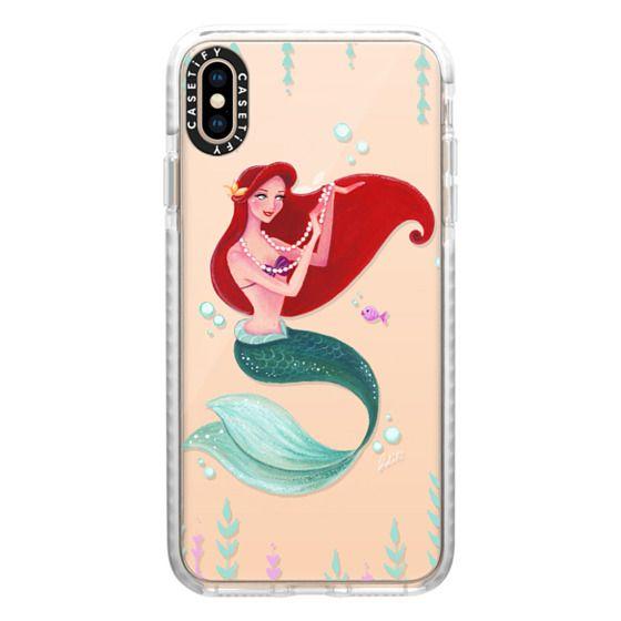 iPhone XS Max Cases - Mermaid with Pearls, mermaid, princess, Transparent