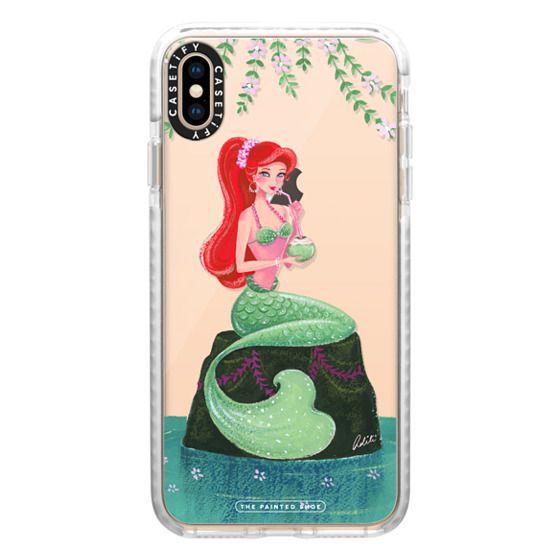 iPhone XS Max Cases - Mermaid, Summer Lovin' Mermaid (Transparent)