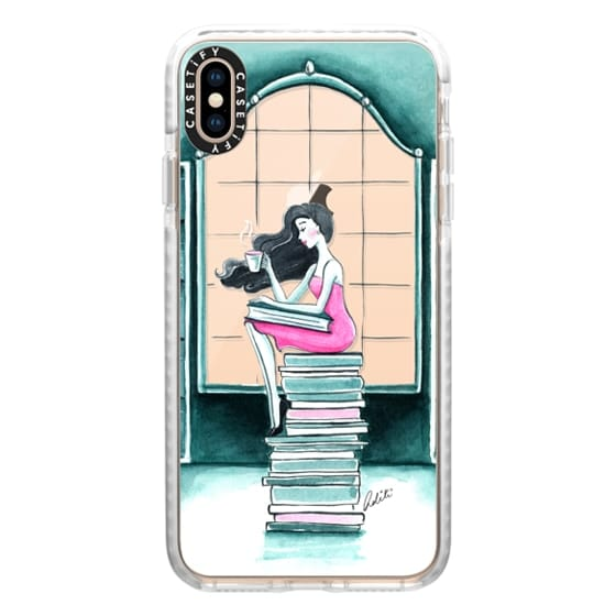 iPhone XS Max Cases - Book Lover & Coffee, Transparent