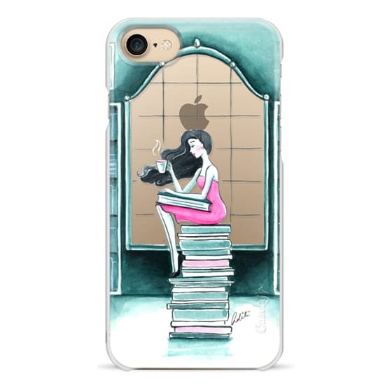 iPhone 7 Cases - Book Lover & Coffee, Transparent
