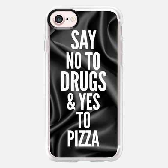 Say no to drugs and yes to pizza - Wallet Case