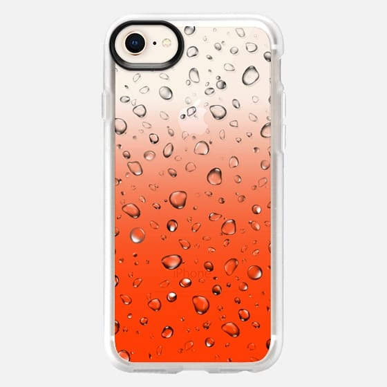 Red Raindrops - Snap Case