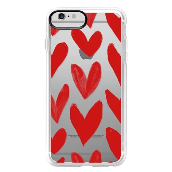 iPhone 6 Plus Cases - Red Hearts