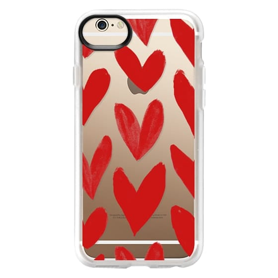 iPhone 6 Cases - Red Hearts