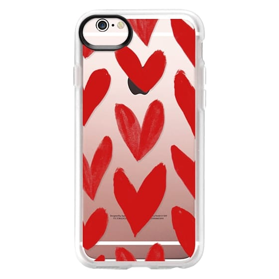 iPhone 6s Cases - Red Hearts