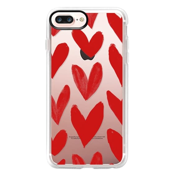 iPhone 7 Plus Cases - Red Hearts