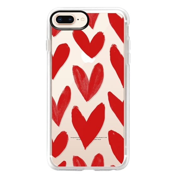 iPhone 8 Plus Cases - Red Hearts