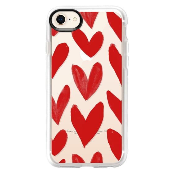 iPhone 8 Cases - Red Hearts