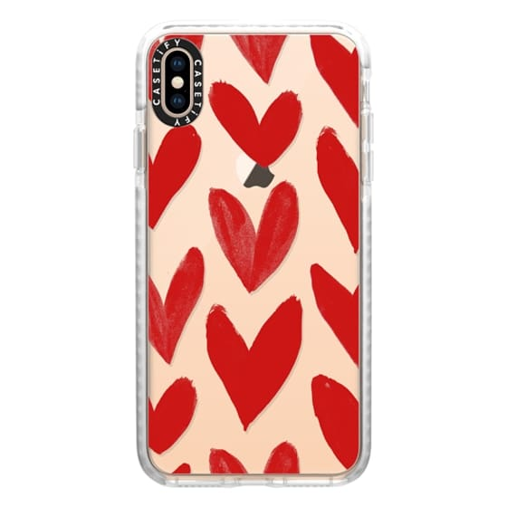 iPhone XS Max Cases - Red Hearts