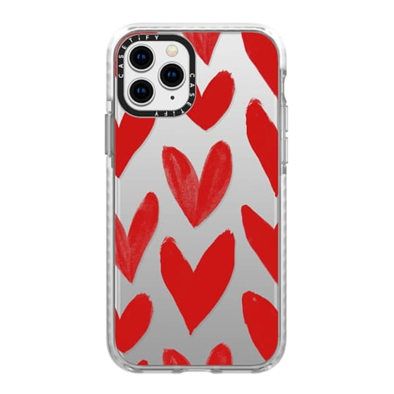 iPhone 11 Pro Cases - Red Hearts