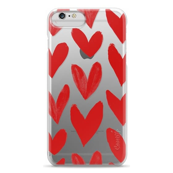 iPhone 6s Plus Cases - Red Hearts