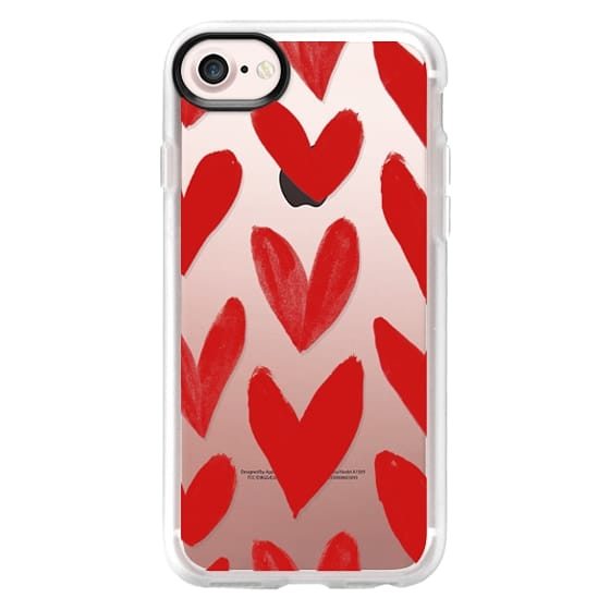 iPhone 7 Cases - Red Hearts
