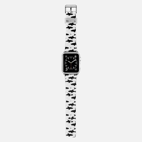 Shark attack apple watch band black and white modern minimal design geometric trendy -
