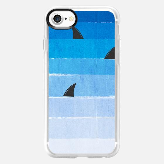 Sharks in the ocean - ombre shark design shark attack shark week design -