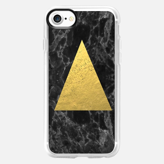 Marble Tri black and gold foil cell phone case for iphone6 glitter foil marble minimal trendy hipster - Wallet Case