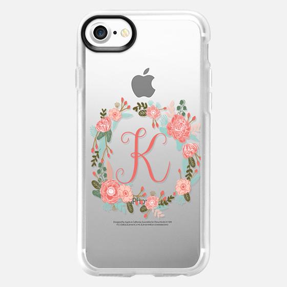 K monogram must have iphone 6 case- cute iphone monogram case- painted florals- watercolor florals- best iphone monogram case- letter case- watercolor florals- floral wreath- best florals phone case- painted florals phone case- -