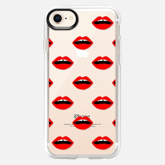 Lips transparent cell phone case red valentines day gifts - Snap Case