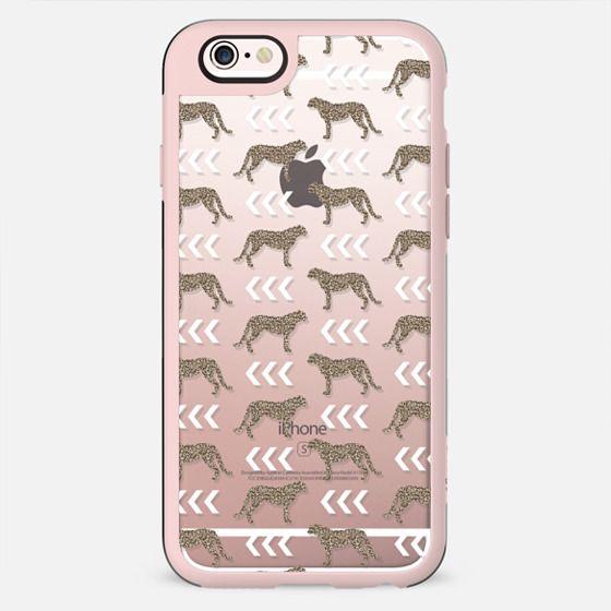 Cheetah glitter gold dots geometric modern phone case for iphone transparent phone case - New Standard Case