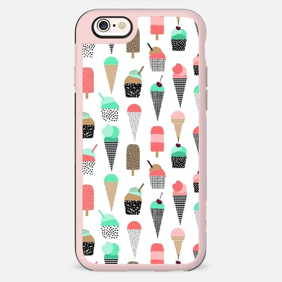 Trendy ice cream cones cell phone sweet treats for summer hot weather beach vacation - New Standard Case