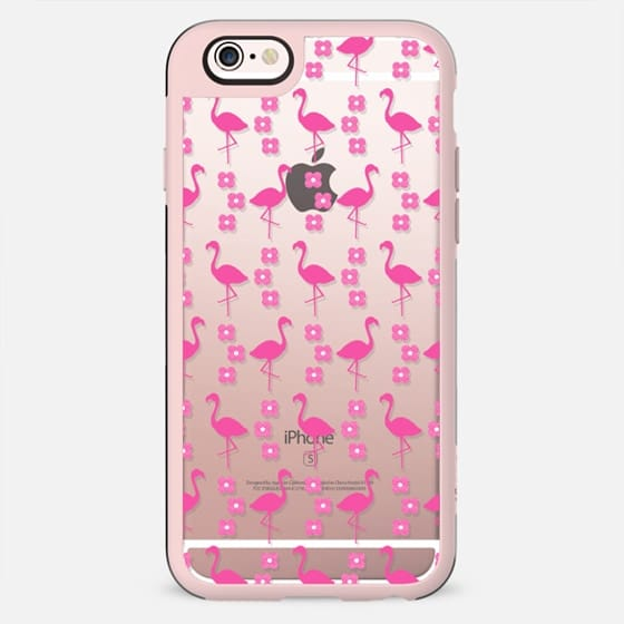 Pink Flamingo trendy cell phone clear case for iPhone6 gifts for girls - New Standard Case