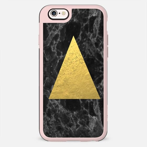 Marble Tri black and gold foil cell phone case for iphone6 glitter foil marble minimal trendy hipster