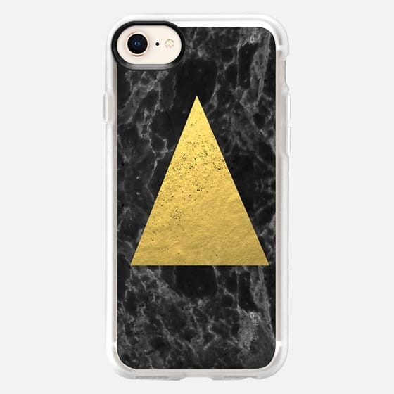 Marble Tri black and gold foil cell phone case for iphone6 glitter foil marble minimal trendy hipster - Snap Case