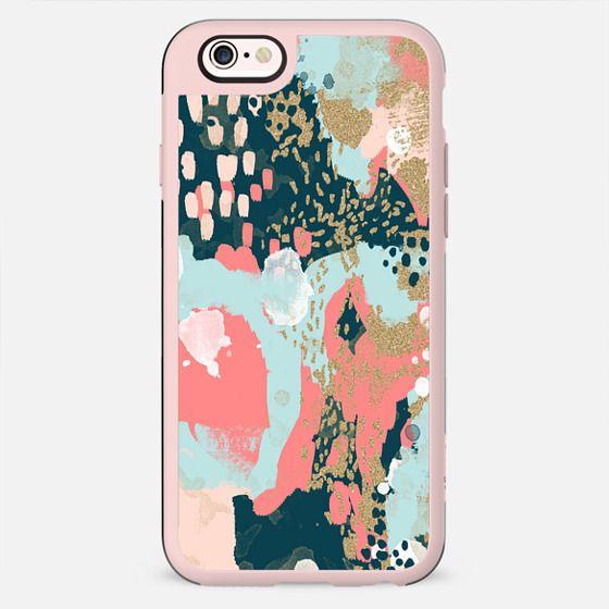 Eisley phone case brushstroke popular trendy girly artist case with gold glitter - New Standard Case