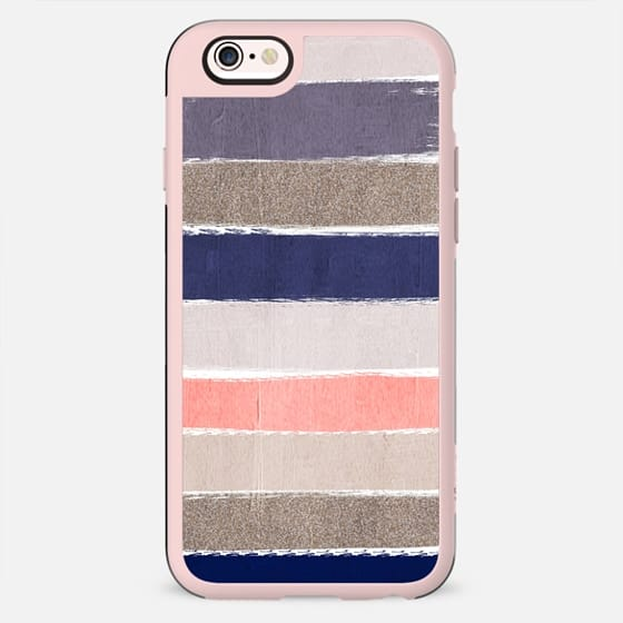 Watercolor abstract painting brushstrokes feminine cell phone case hipster trendy glitter girls - New Standard Case