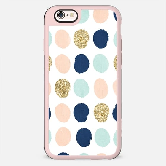 wren - polka dot gold glitter blush mint navy dots polka dot  dots girly trend