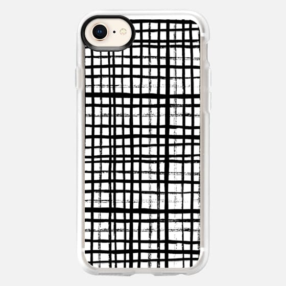 Essie - Black and White grid, grid, 80s, painterly, ink, artist designed case - Snap Case