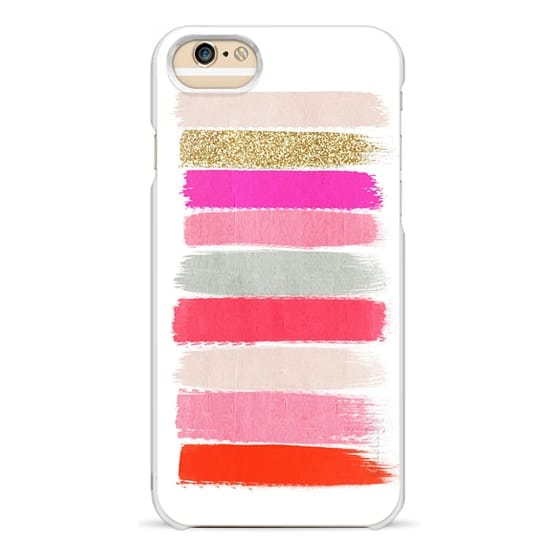 iPhone 6s Cases - minnie - girly trendy glitter gold glitter pink brushstroke acrylic artist painterly case