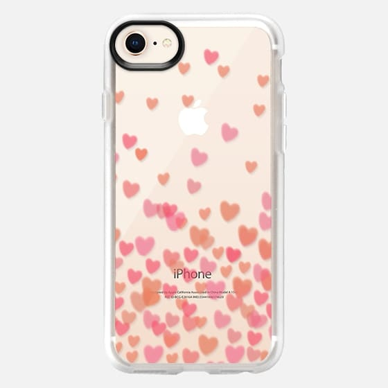Hearts  - Pink - Snap Case