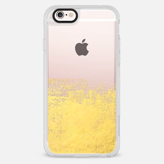 Gold sparkle foil painting brushstrokes abstract cell phone art case  - New Standard Case