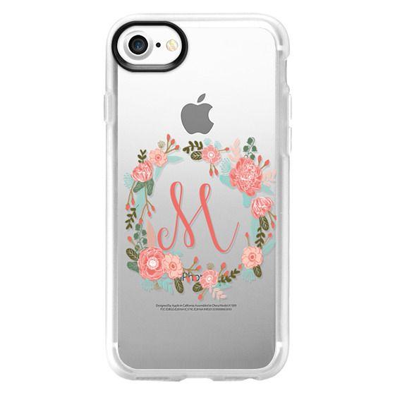 brand new 46f44 b3d82 Classic Grip iPhone 7 Case - M monogram must have iphone 6 case- cute  iphone monogram case- painted florals- watercolor florals- best iphone  monogram ...