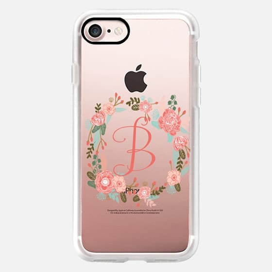 B monogram letter b florals cute gift for her name beginning with B -