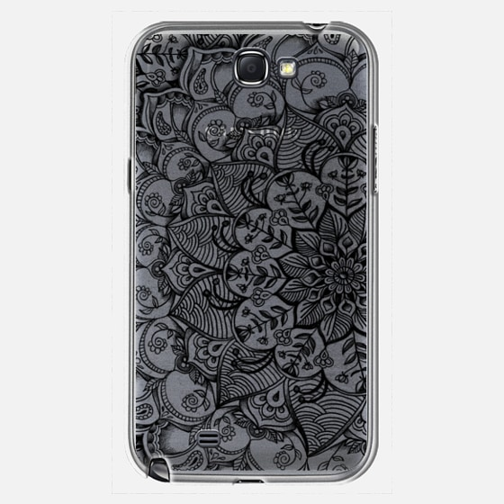 Shades of Crystal Grey Transparent Doodle