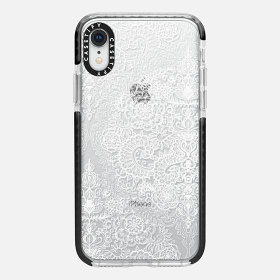 Crystal White Vintage Lace on Transparent