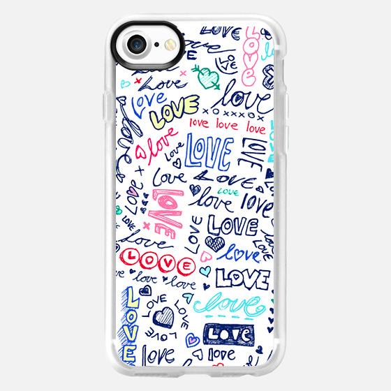 Love Love Love - Ballpoint Pen doodles design -