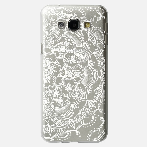 Fancy White Lace Mandala on crystal transparent