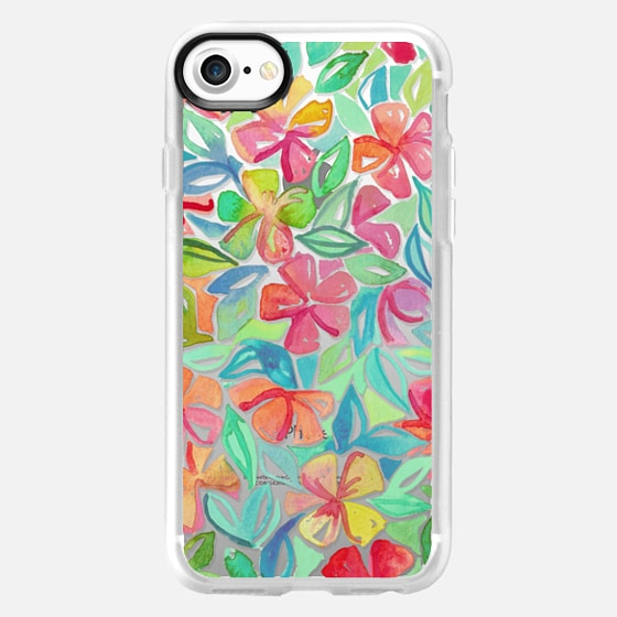 Shine Through Tropical Floral Watercolor Painting - Wallet Case