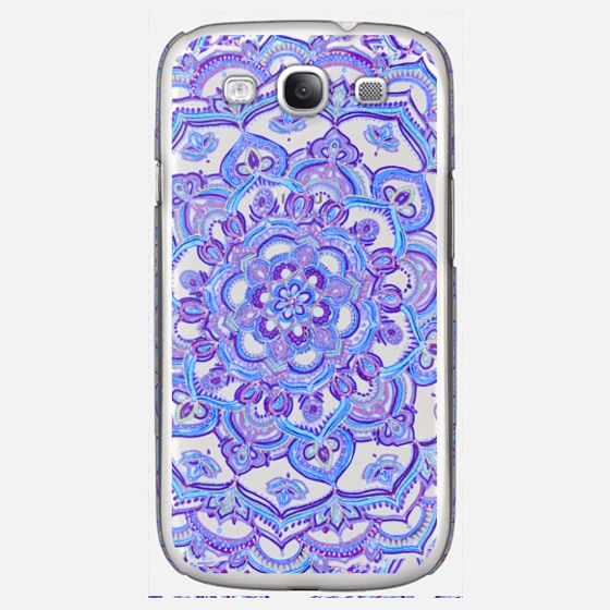 Radiant Cobalt & Royal Purple Mandala on Transparent