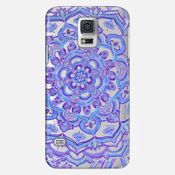 Radiant Cobalt & Royal Purple Mandala on Transparent